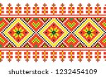 colored embroidery like cross... | Shutterstock .eps vector #1232454109