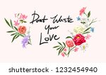 love slogan with colorful... | Shutterstock .eps vector #1232454940