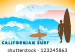 on the image the ocean coast... | Shutterstock .eps vector #123245863