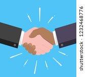 businessmen shaking hands flat... | Shutterstock .eps vector #1232468776