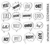 16 speech bubbles flat style... | Shutterstock .eps vector #1232468866