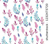 texture with flowers and plants.... | Shutterstock .eps vector #1232473720