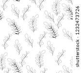 vector flower black white... | Shutterstock .eps vector #1232473726