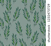 seamless pattern with leaf.... | Shutterstock .eps vector #1232473729