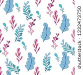texture with flowers and plants.... | Shutterstock .eps vector #1232473750