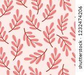 leaves pattern. vector... | Shutterstock .eps vector #1232474206