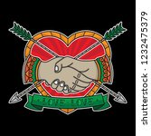 flash tattoo  handshake... | Shutterstock .eps vector #1232475379