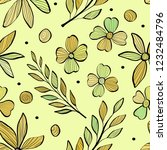 seamless pattern with branches... | Shutterstock .eps vector #1232484796