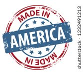 made in america rubber stamp... | Shutterstock .eps vector #1232491213