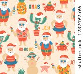 seamless pattern for christmas... | Shutterstock .eps vector #1232492596