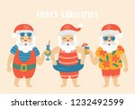 christmas holiday cute elements ... | Shutterstock .eps vector #1232492599