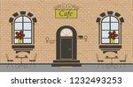 pretty scenery in a rustic... | Shutterstock .eps vector #1232493253