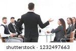 rear view .the businessman... | Shutterstock . vector #1232497663