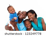happy african family isolated...   Shutterstock . vector #123249778