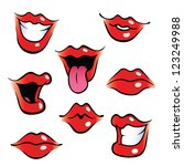 collection of female mouths...