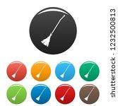 broom icon. simple illustration ... | Shutterstock .eps vector #1232500813