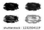 set of brush stroke and... | Shutterstock . vector #1232504119