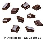 close up of chocolate pieces... | Shutterstock . vector #1232518513