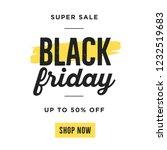 black friday super sale shop... | Shutterstock .eps vector #1232519683