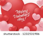 happy valentine day... | Shutterstock .eps vector #1232531986
