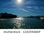 port in the aegean sea with...   Shutterstock . vector #1232546869