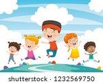 vector illustration of children ... | Shutterstock .eps vector #1232569750