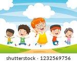 vector illustration of children ... | Shutterstock .eps vector #1232569756