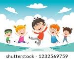 vector illustration of children ... | Shutterstock .eps vector #1232569759