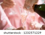 pouring champagne with friends | Shutterstock . vector #1232571229