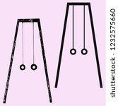 gymnastic rings vector... | Shutterstock .eps vector #1232575660