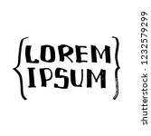 lorem ipsum  sample text .... | Shutterstock . vector #1232579299