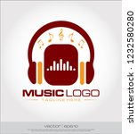music headphone equalizer logo... | Shutterstock .eps vector #1232580280