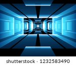 abstract fractal perspective...   Shutterstock .eps vector #1232583490