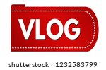 vlog banner design on white... | Shutterstock .eps vector #1232583799