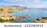 calella de palafrugell  spain   ... | Shutterstock . vector #1232583919
