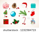 winter holiday decor. set of...   Shutterstock .eps vector #1232584723