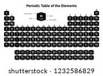periodic table of the elements... | Shutterstock .eps vector #1232586829