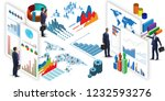 businessman in business... | Shutterstock . vector #1232593276