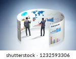 concept of business charts and... | Shutterstock . vector #1232593306