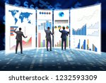 concept of business charts and... | Shutterstock . vector #1232593309