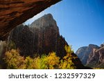 fall foliage at weeping rock in ... | Shutterstock . vector #1232597329