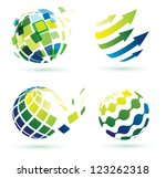 abstract globe icons  business... | Shutterstock .eps vector #123262318