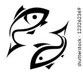 Fish Vector Symbol  Isolated...