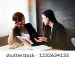 the businesswomen talking... | Shutterstock . vector #1232634133