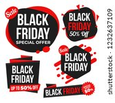 set of variety black friday... | Shutterstock .eps vector #1232637109