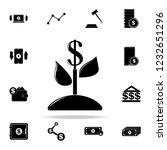 plant dollar icon. finance... | Shutterstock . vector #1232651296
