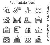 real estate icon set in thin... | Shutterstock .eps vector #1232656090