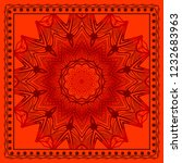 design print for kerchief. the... | Shutterstock .eps vector #1232683963