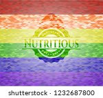 nutritious on mosaic background ... | Shutterstock .eps vector #1232687800