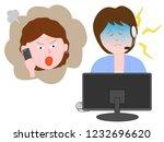 a woman at a customer center... | Shutterstock .eps vector #1232696620
